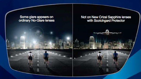 9d12f8a6894f Crizal Lenses. Crizal coated lenses help reduce the glare of oncoming  traffic at ...